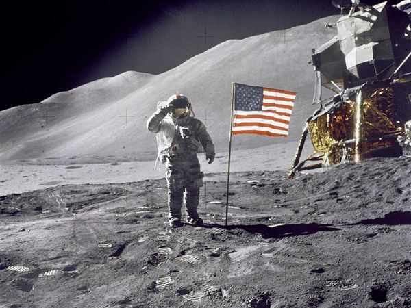 ONE SMALL STEP? MAN DIDN'T GET TO THE MOON ON A BOTTLE ROCKET