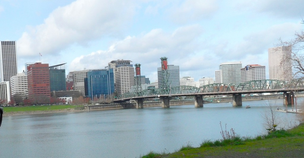 Two bank towers in downtown Portland. image via David Gillaspie