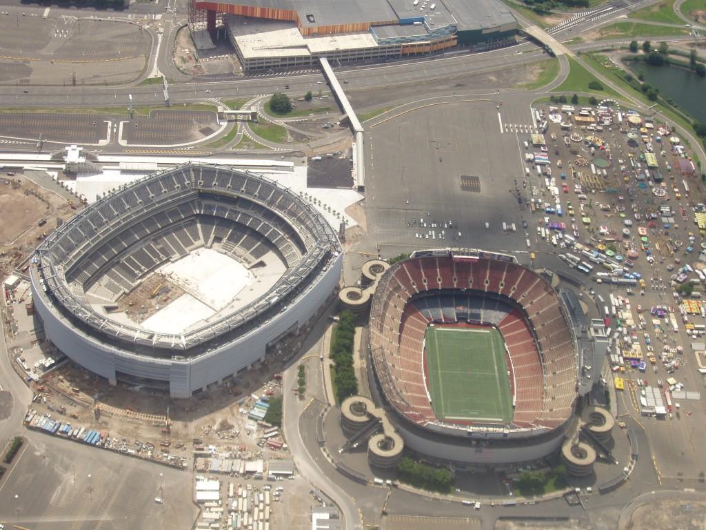 MetLife Stadium and Giants Stadium via wikipedia.com