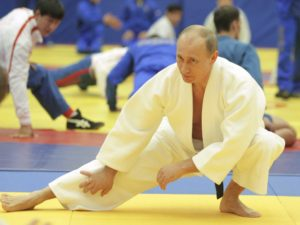 PROFESSOR PUTIN WARMS UP FOR NEW PUPIL